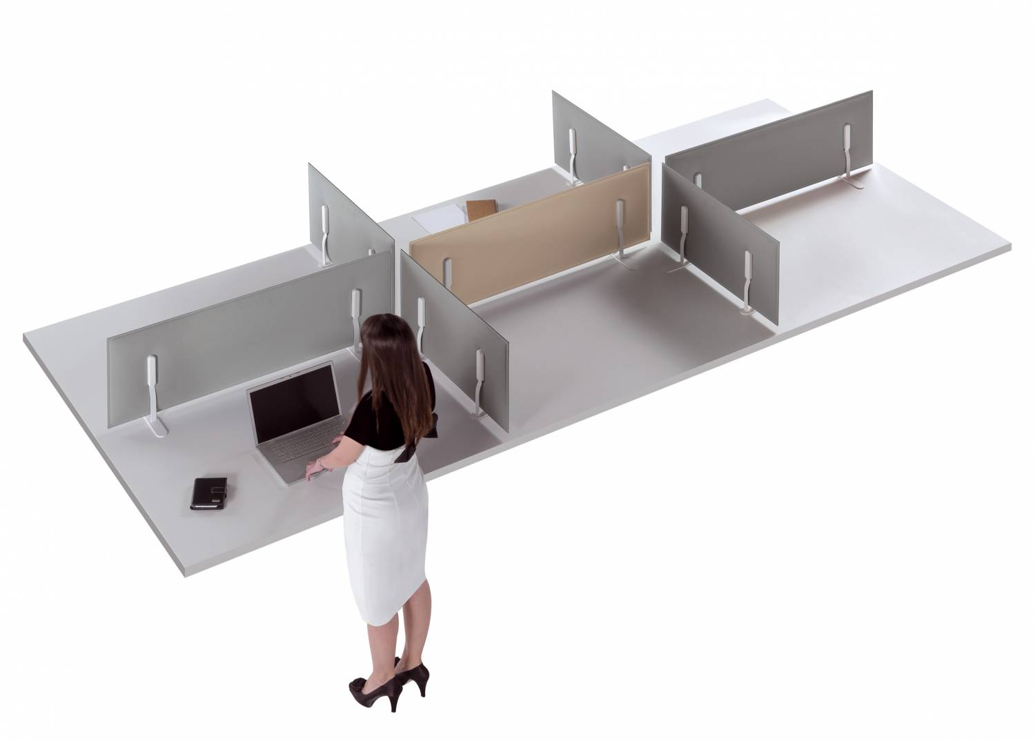 Mitesco-Worktop-Ocee-Sound-Absorbing-Freestanding-Desk-Divders-In-Situ