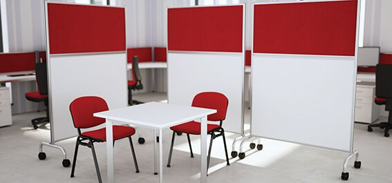 Mobile Office Dividers