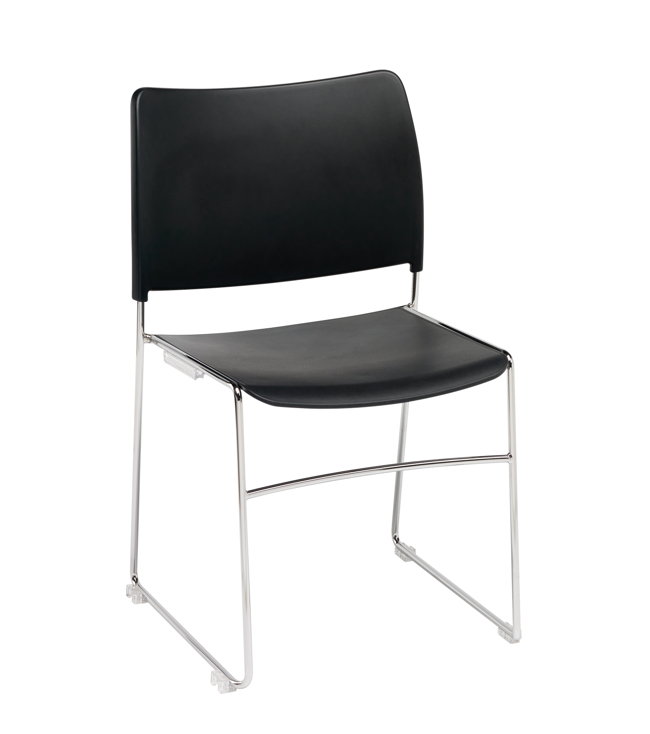Modius-Black-Plastic-Stacking-Meeting-Chair-Chrome-Steel-Frame