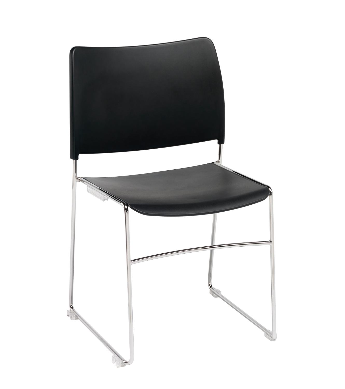 Modius-Black-Plastic-Stacking-Meeting-Chair-Chrome-Steel-Frame
