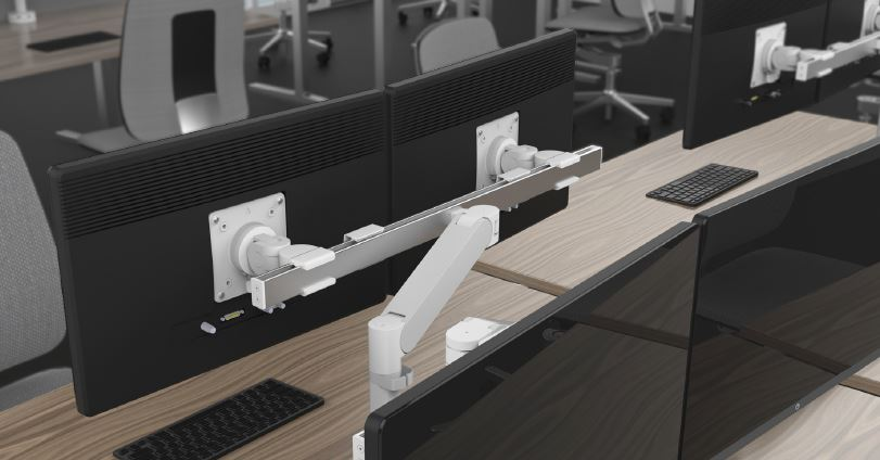 Monitor Arm With Crossbar