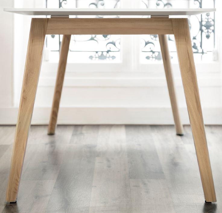 NOVA Wood Ash Leg Desk Close Up