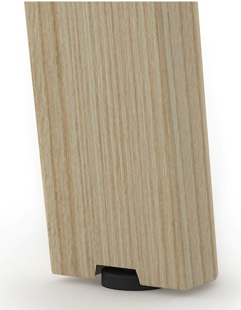 NOVA Wood Leg Riser Close Up