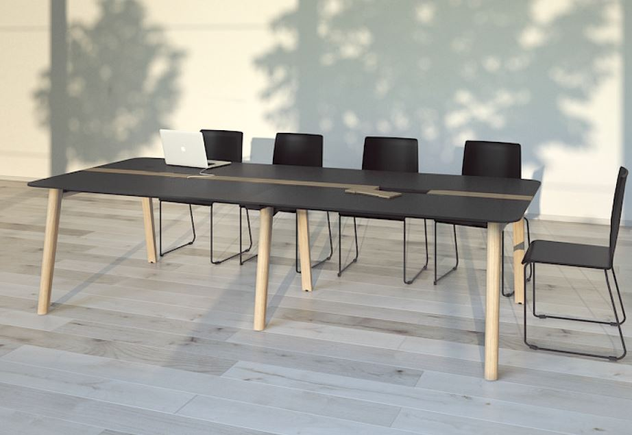 NOVA Wood Meeting Tables In Situ