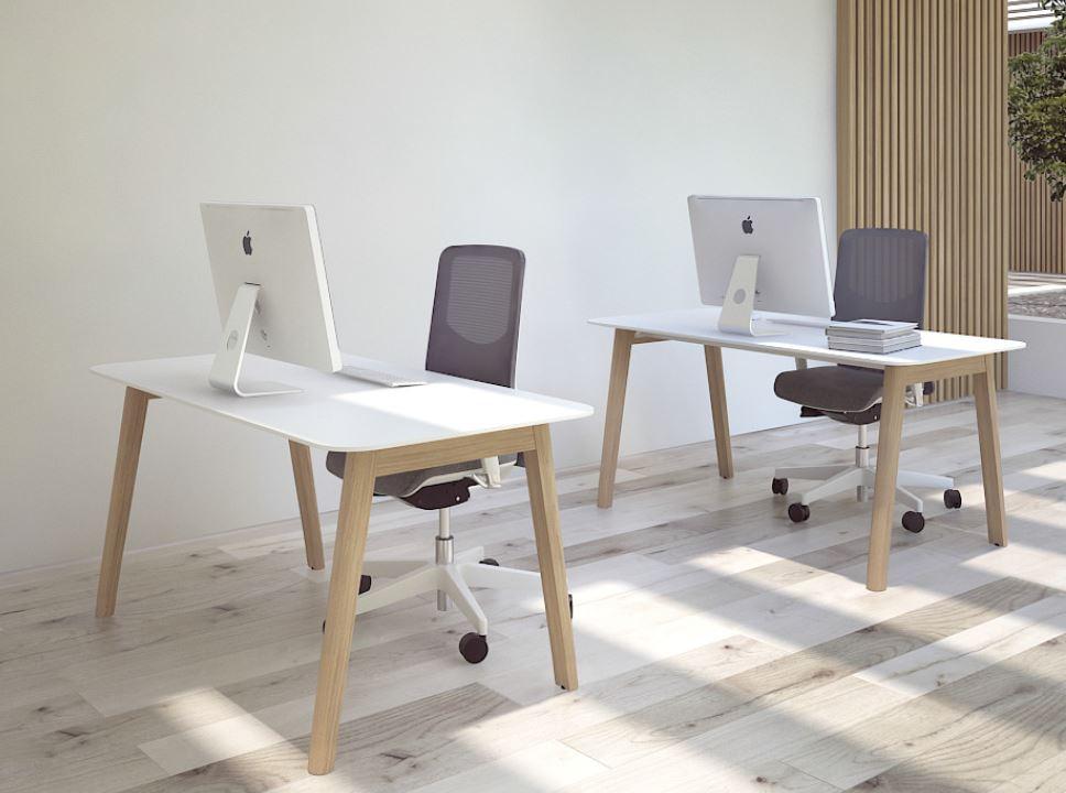 NOVA Wood Single Desks In Situ
