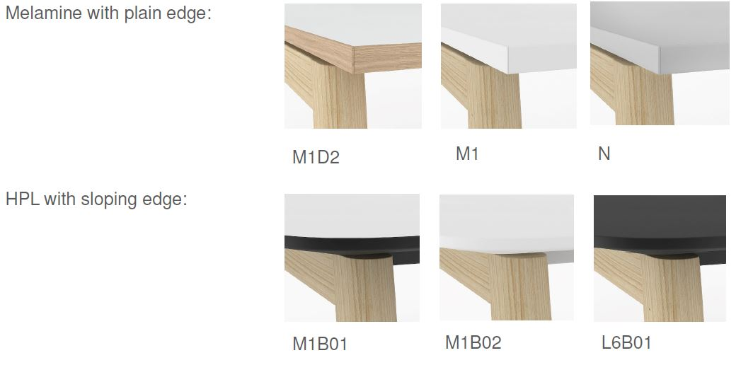 NOVA Wood Top and Edge Options