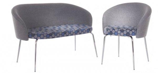 Neon Tub Chair and Sofa Chrome Legs
