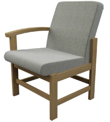 Newton-Medium-BackWooden-Frame-Reception-Chair-with-Left-Arm