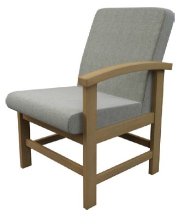 Newton-Medium-Back-Wooden-Frame-Reception-Chair-With-Right-Arm