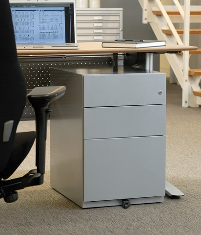 Bisley-Note-Desk-Pedestal-Drawers-Grey
