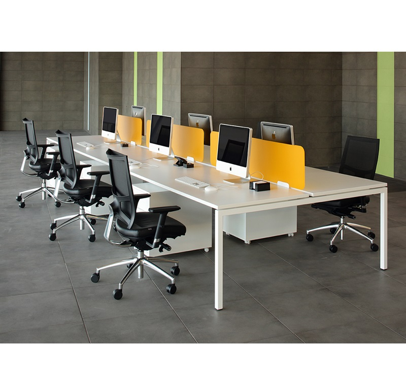 Nova Straight Leg Steel Frame Bench Desk
