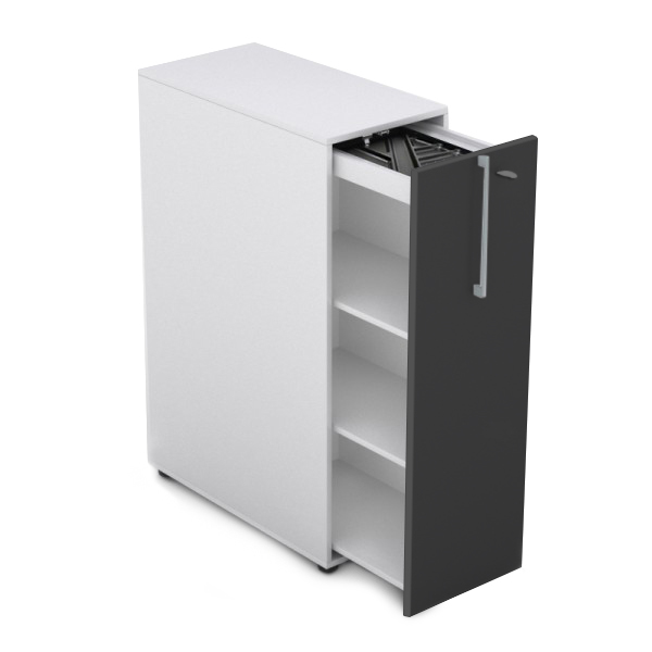Grey Front Lockable Tower Storage Unit