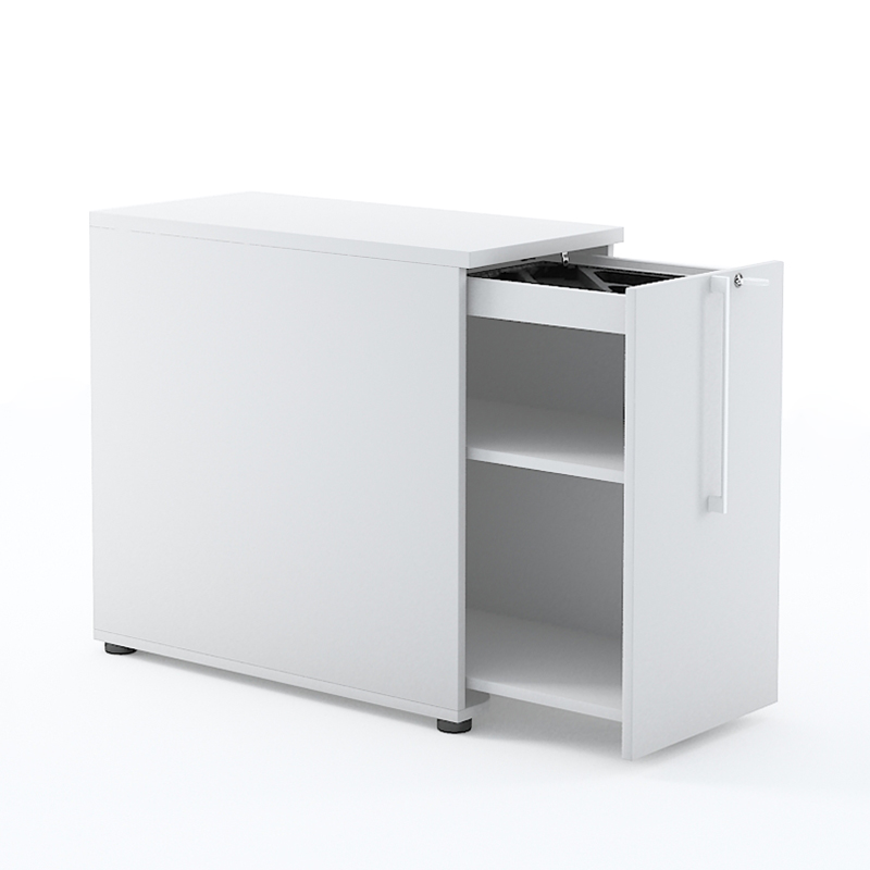 Tall Office Storage Unit with Pen Tray
