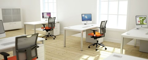 Bench-Squared-White-Deskits-In-Office