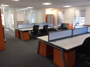 Bench Desks with Acrylic Screens