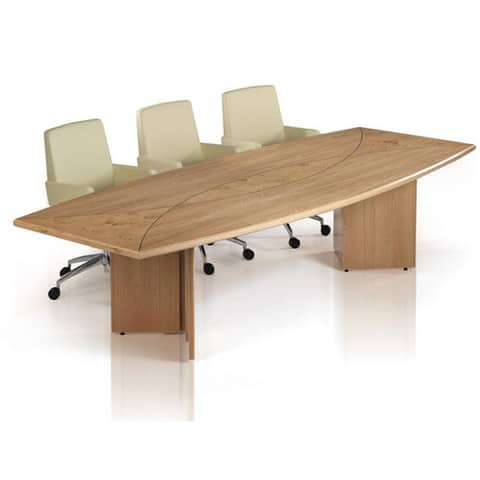 Oracle-Veneer-BOardroom-Table-Barell-Shaped-Top-Arrowhead-Base