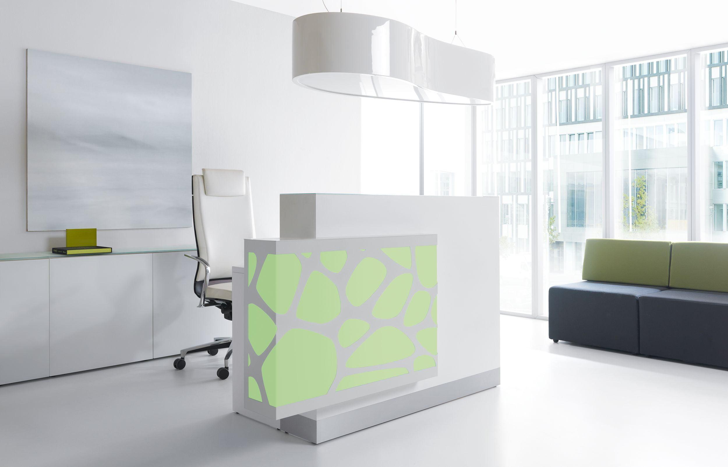 Organic Reception Desk Green MDD
