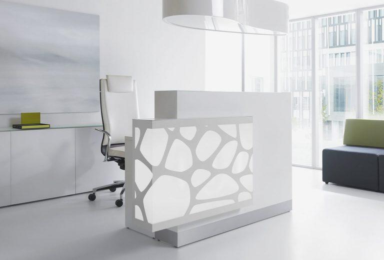 Organic Reception Desk White