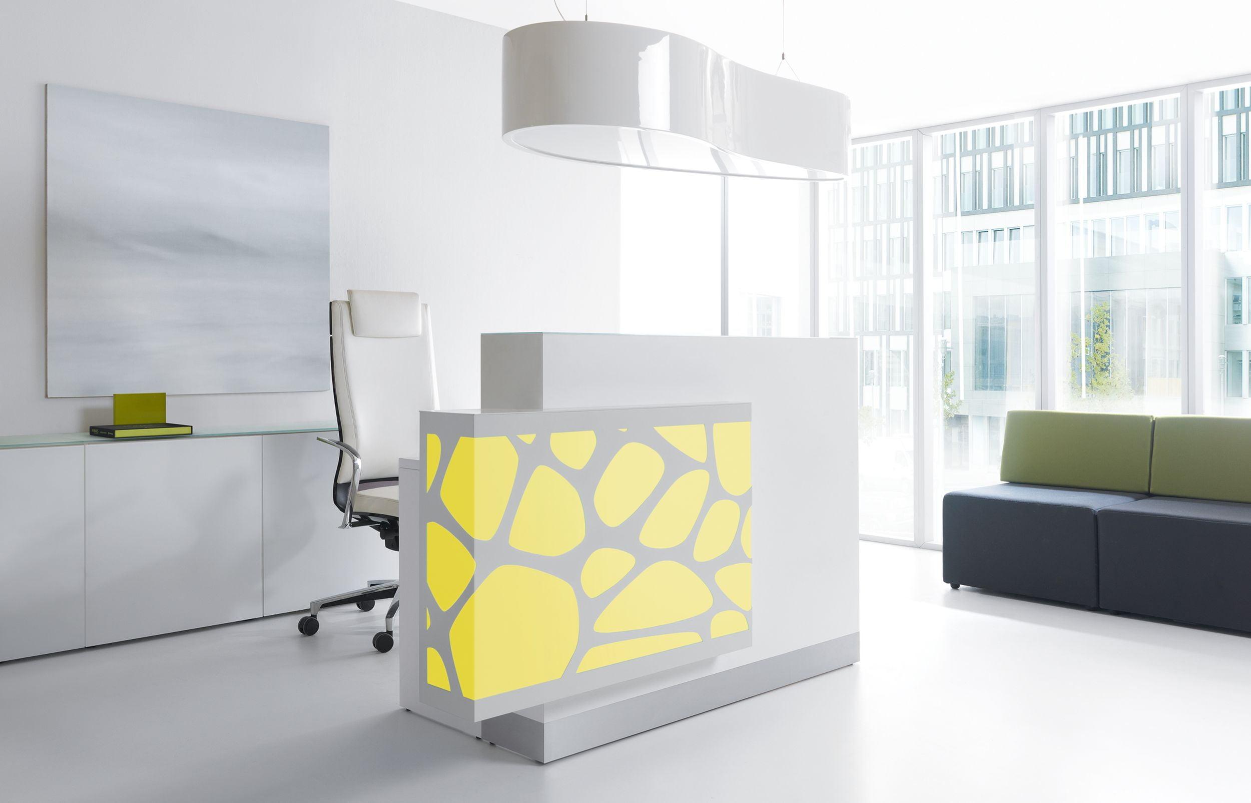 Organic Reception Desk Yellow