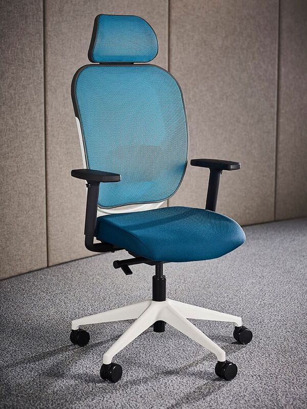 Oscar-Mesh-Back-Office-Chair-Blue-with-White-Base