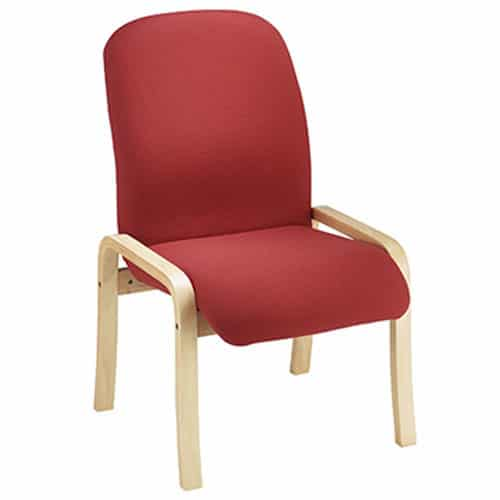 Pennine Beech Laminate Frame Upholstered Chair Red Without