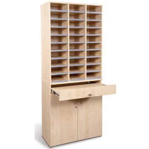 Pigeon-Hole-Unit-With-Cupboard-and-Drawer
