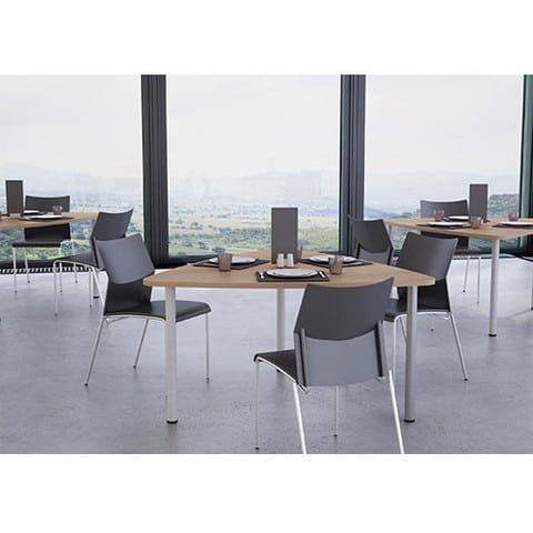 Plectra-Triangular-Cafe-Table-Tubular-Legs