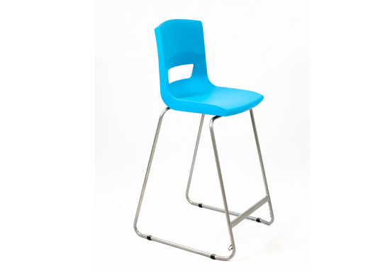 Postura Plus High Chair Aqua Blue