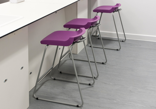 Postura Plus Stools Purple In Situ