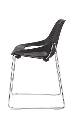 QUS-Black-Skid-Frame-Plastic-Cafe-Chair