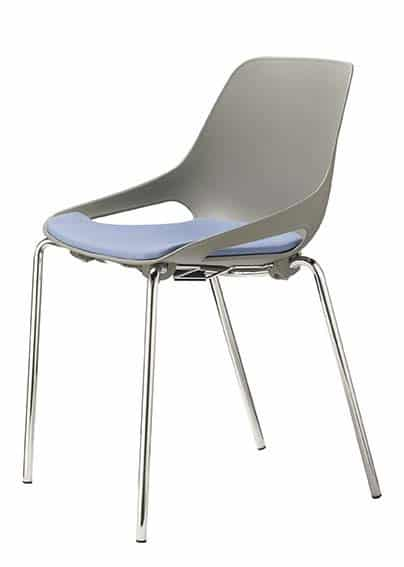 QUS-Plastic-Cafe-Chair-Chrome-Frame-Upholstered-Seat-Grey