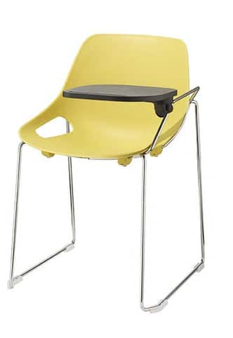 QUS-Skid-Frame-Plastic-Chair-with-Writing-Tablet