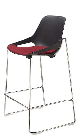 QUS-Stool-with-Back-Skid-Frame-with-Foot-Bar-Upholstered-Seat