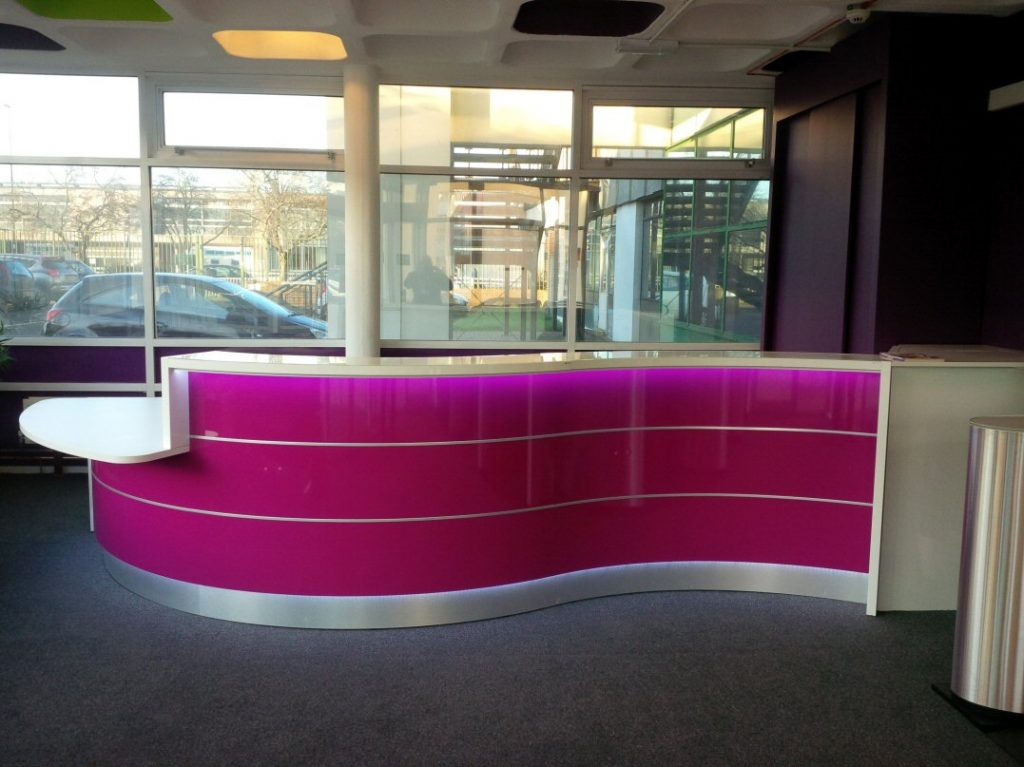 High-Gloss-Curved Reception-Desk