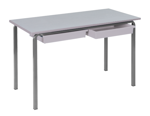 Reliance Rectangular Crush Bent Frame Classroom Table with Tray Runners