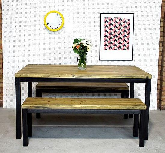 Industrial Style Benching and Tables