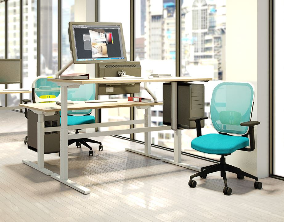 Rise-Sit-Stand-Desks-Back-To-Back-Rectangular-Desks-In-Situ