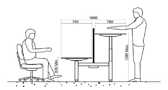 Rise-Squared-Height-Adjustable-Desking-Minimum-to-Maximum-Height-Diagram