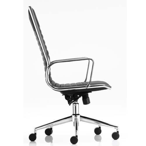 Ritz-Black-Leather-Executive-Chair-Modern-Chrome-Base