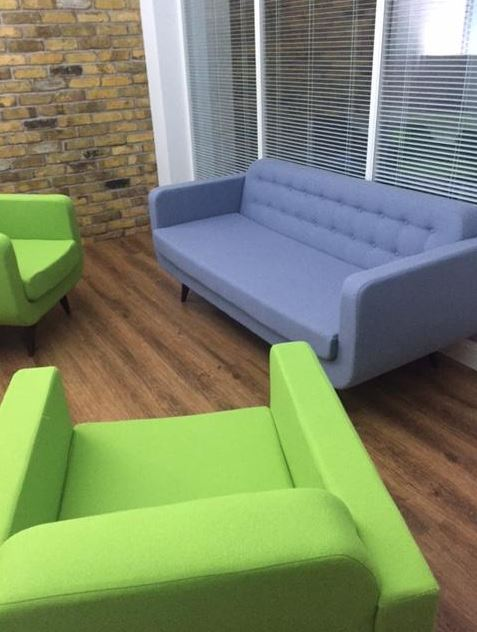 Rocca Wood Sofas and Armchairs in Situ