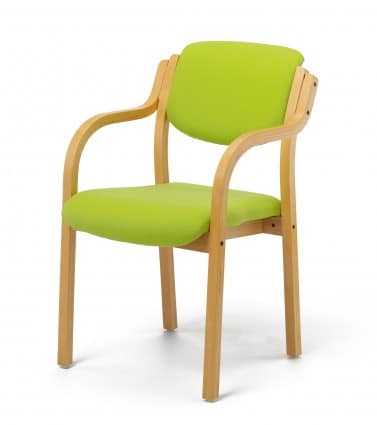Wood-Beech-Frame-Half-Back-Visitors-Chair-With-Arms