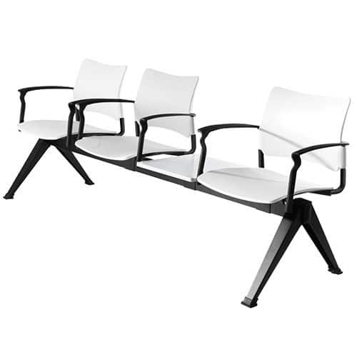 SJX-Plastic-Beam-Seating-With-Table-And-Arms