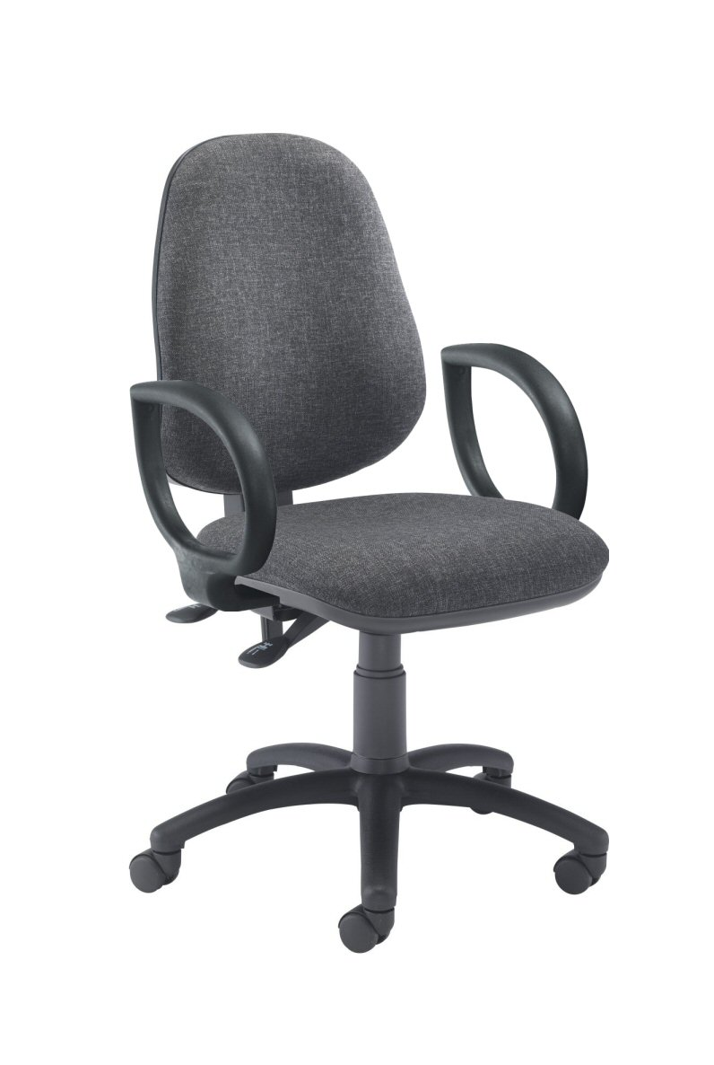 Splash Chair with Fixed Arms Charcoal