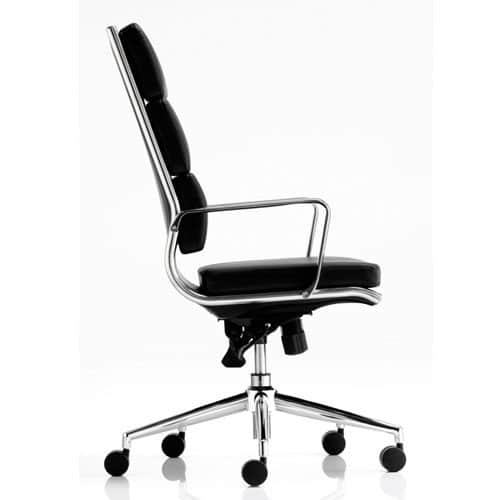 Savoy-Leather-Executive-Office-Chair-Black-With-Arms