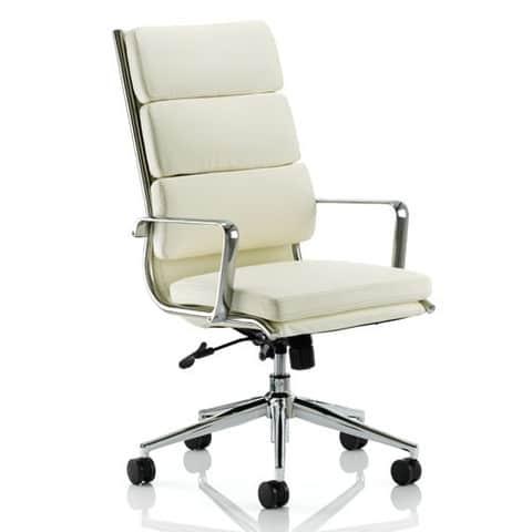 Savoy-Leather-Executive-Office-Chair-Cream-Aluminium-Base