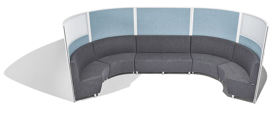 Screentek-Curved-Marathon-Office-Screen-With-Sofas-Set-Up