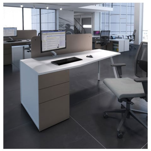 Script-White-Top-Desk-with-White-Frame-and-Pedestal-Drawers
