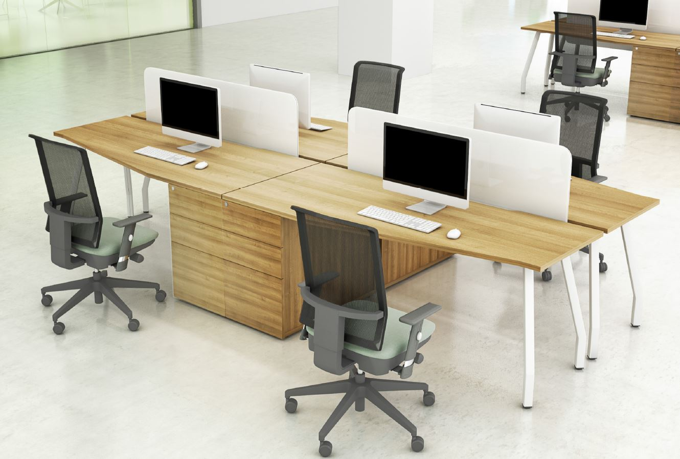 Script-Desks-White-Angled-Legs-In-Situ