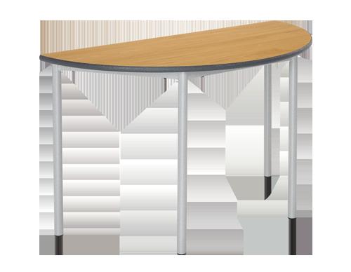Semi-Circular RT32 Tubular Leg Classroom Table