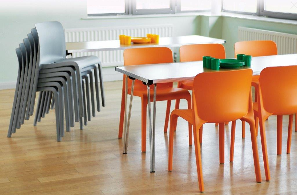 Shell Plastic Chairs in Canteen
